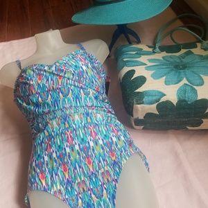 Jantzen multi color swimsuit